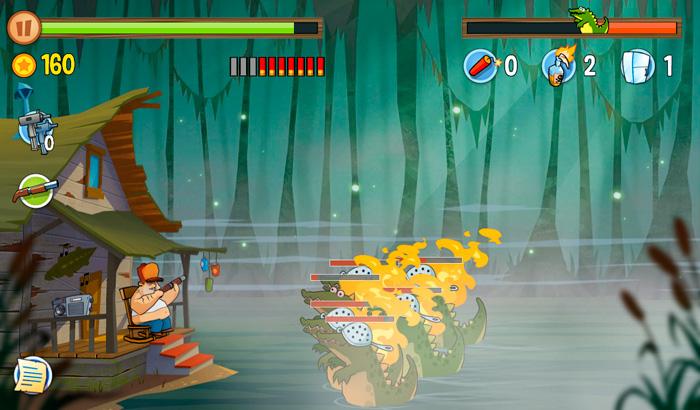 Swamp Attack Pantalla de partida en juego