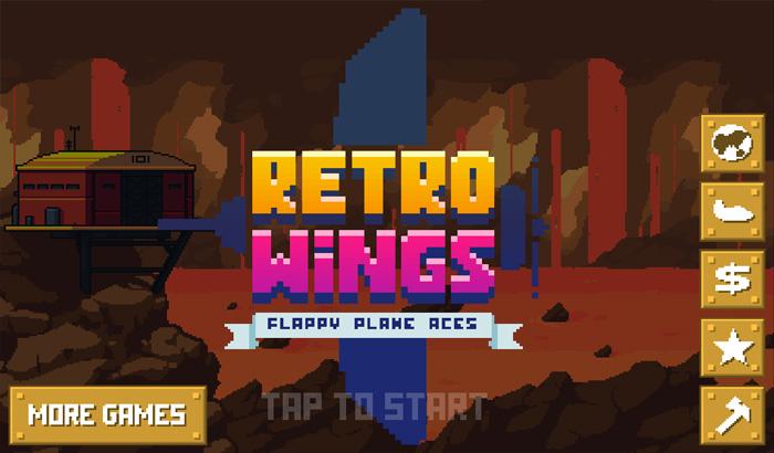 Pantalla principal de Retro Wings