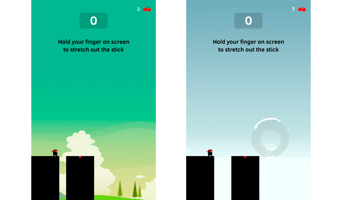 El jugón de móvil Análisis de Stick Hero partida