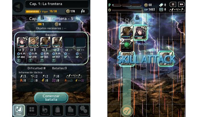 El jugón de movil Analisis Terra Battle Partida