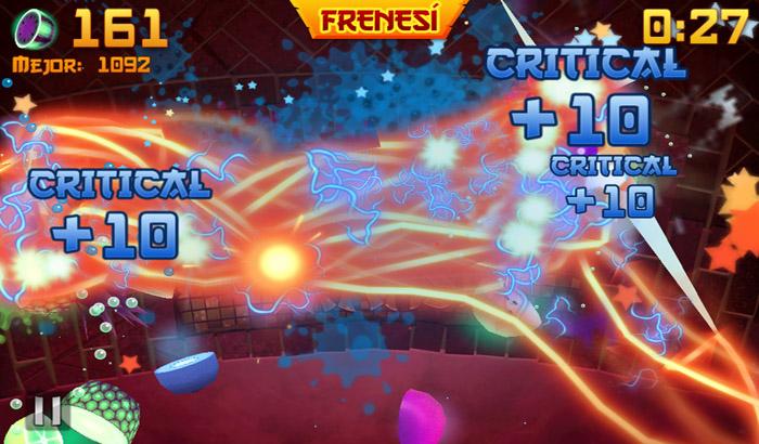 El Jugón de Movil Analisis Fruit Ninja partida