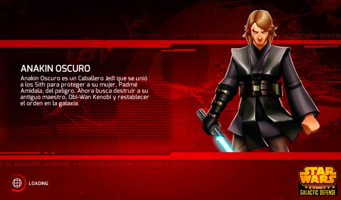 El jugón de móvil Análisis Star Wars: Galactic Defense Anakin Oscuro