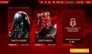 El jugón de móvil Análisis Star Wars: Galactic Defense Campeones