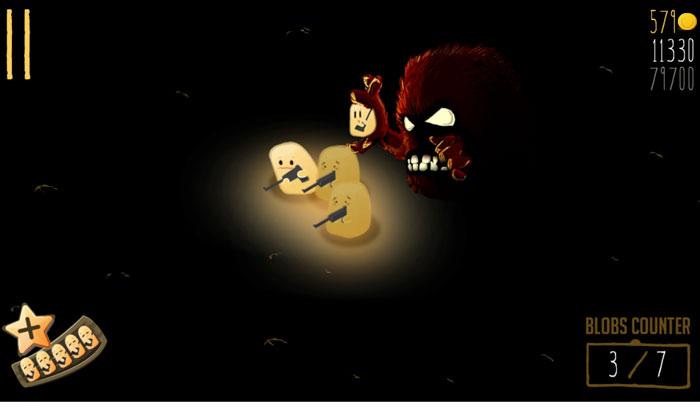 Hopeless The Dark Cave Blob capturado análisis El Jugón de Móvil