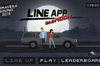 portada Primavera Sound Line-App bad moon para el jugón de móvil