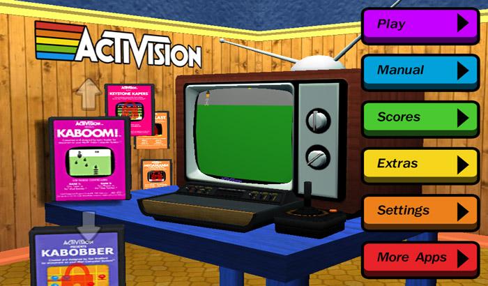El jugon de movil - Activision Anthology menu
