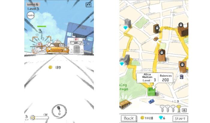 Partida y mapa de Kitten Taxi para el análisis de El Jugón de Móvil