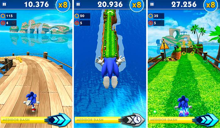 El Jugón de Móvil Análisis Sonic Dash partida