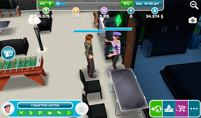 El Jugón De Móvil - Análisis Los Sims Free Play Partida