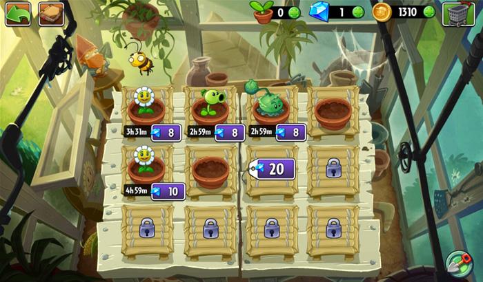 Análisis Juego Plants vs. Zombies 2 partida 2