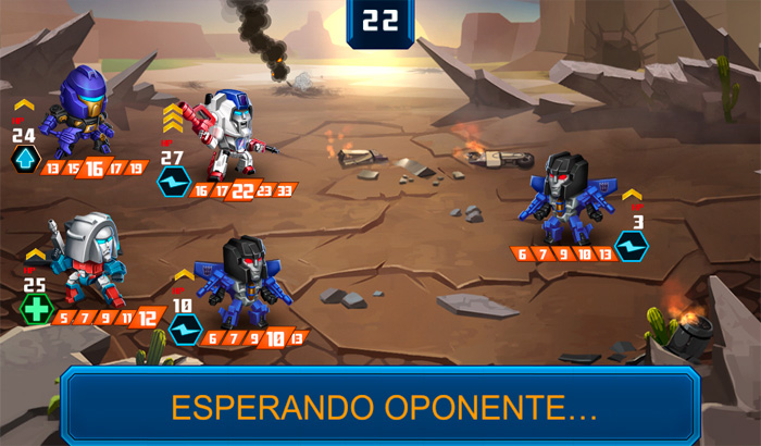 El Jugón de Movil TRANSFORMERS Battle Tactics Partida