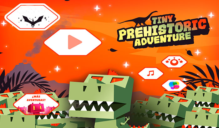 El jugón de móvil jugando Dead Ahead Tiny Prehistoric Adventure