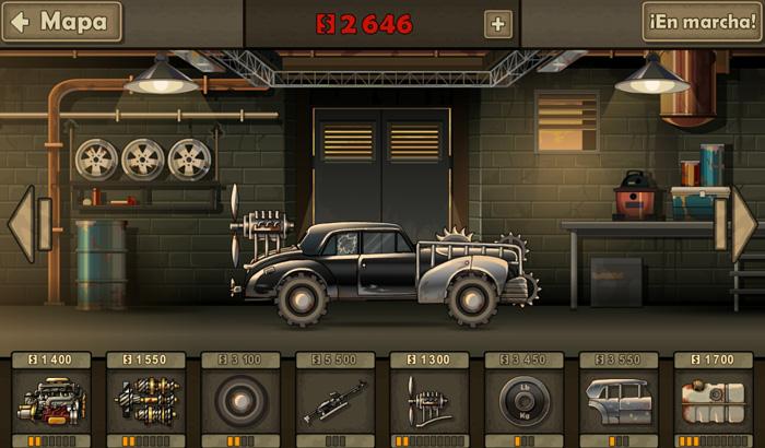 El Jugón de Móvil Earn To Die 2 Garage