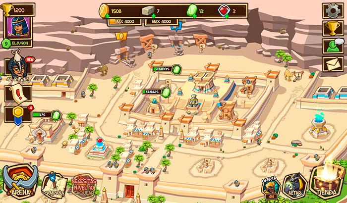 El Jugón de Móvil Análisis Empires of sand