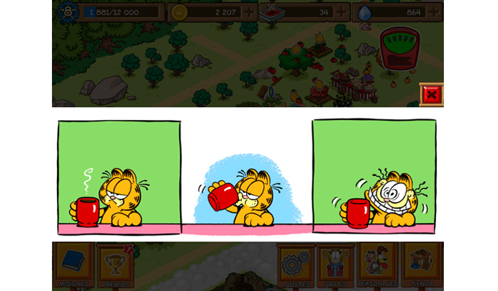 El Jugón de Móvil Garfield Survival of the Fattest Strip