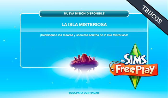 El Jugón de Móvil Guías y Trucos Los Sims Free Play - Misión 7 La isla misteriosa