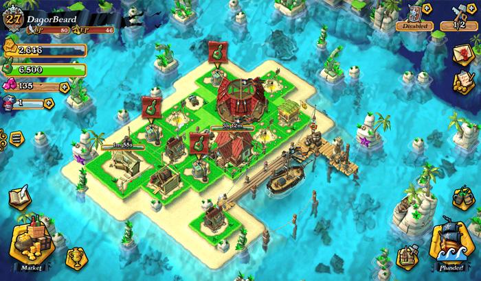 El Jugón de Móvil Análisis Plunder Pirates partida
