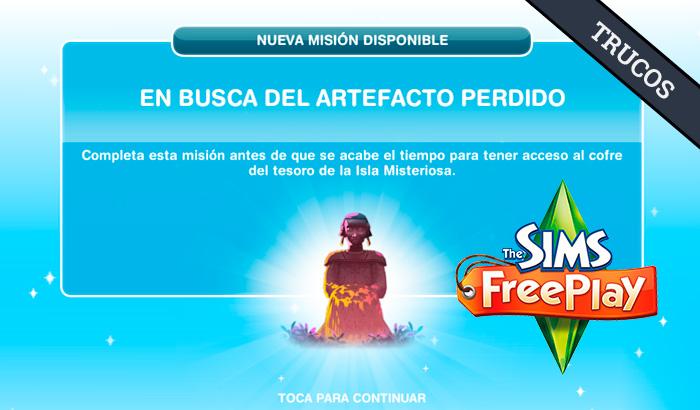 El Jugón de Móvil Guías y Trucos Los Sims Free Play - Misión 8 En busca del artefacto perdido