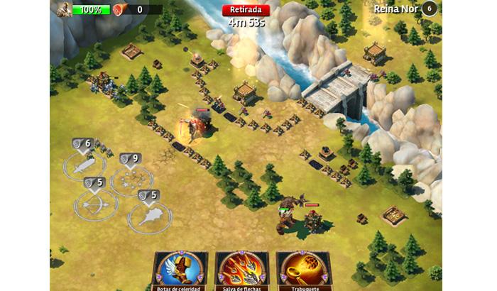 El Jugón de Móvil Siegefall combate