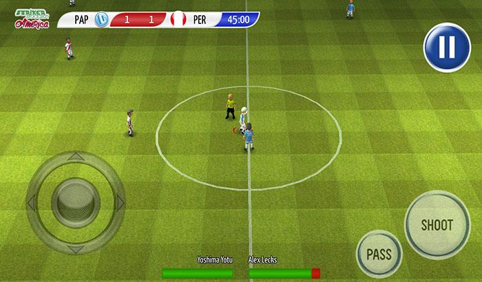El Jugón de Móvil Striker Soccer América Partida 1