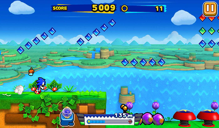 El Jugon De Movil Analisis Sonic Runners partida