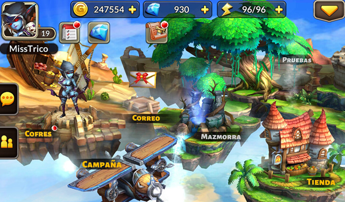 El Jugón De Móvil Análisis Heroes and Titans Battle Arena Menú