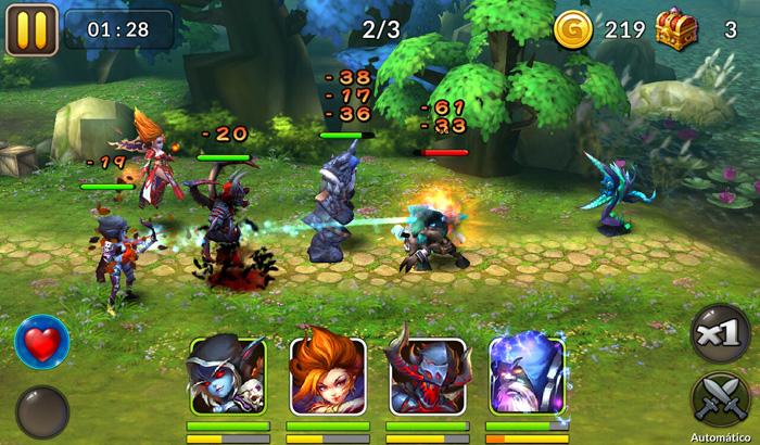 El Jugón De Móvil Análisis Heroes and Titans Battle Arena Partida