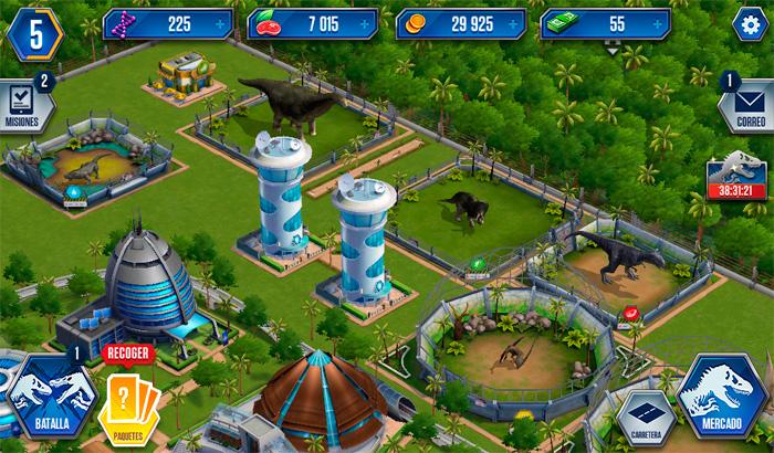 Videojuegos como sistema distribuido El-Jugon-De-Movil-Jurassic-World-el-juego-partida1