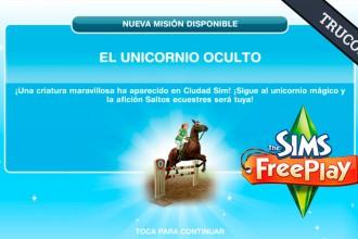 El Jugón de Móvil Guías y Trucos Los Sims Free Play - Misión 11 El Unicornio Oculto