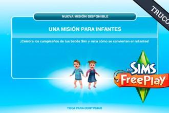 El Jugón de Móvil Guías y Trucos Los Sims Free Play - Misión 10 Una Mision para infantes