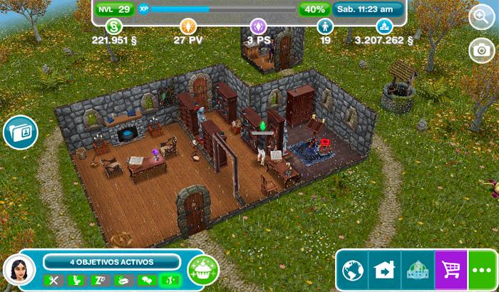 El Jugón de Móvil Guías y Trucos Los Sims Free Play - Misión 14 Libro de Hechizos
