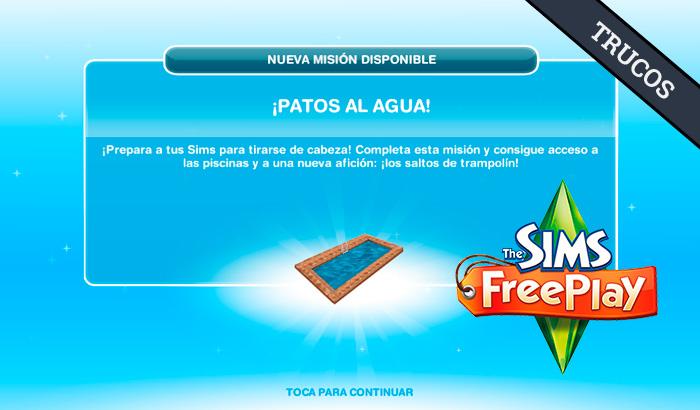 El Jugón de Móvil Guías y Trucos Los Sims Free Play - Misión 12 Patos al Agua