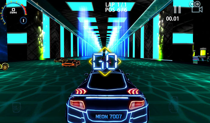 análisis juego Real Neon racing