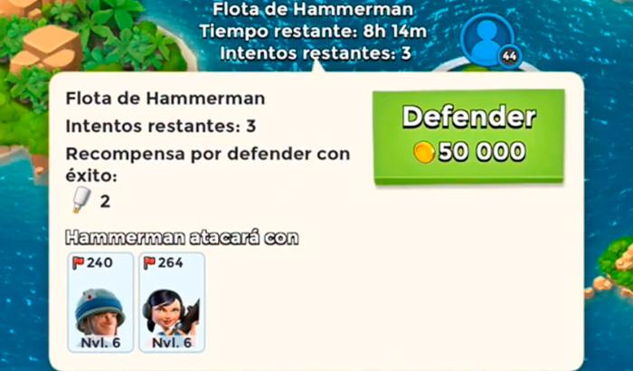 El Jugón de Móvil Gameplay Boom Beach - Defendiendo y atacando a Hammerman