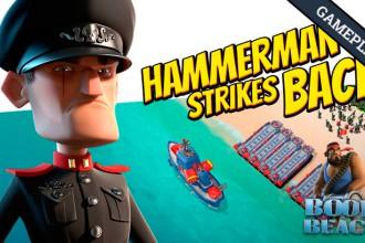 El Jugón de Móvil Gameplay Boom Beach Boom Beach - Defendiendo y atacando a Hammerman