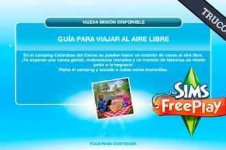El Jugón de Móvil Guías y Trucos Los Sims Free Play - Misión 17 Guía para viajar al aire libre