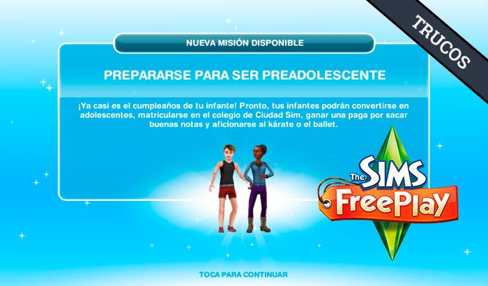 El Jugón de Móvil Guías y Trucos Los Sims Free Play - Misión 18 Guía para viajar al aire libre