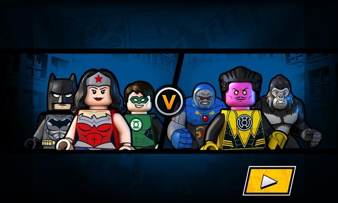 El Jugón de Móvil Pantalla de Carga. LEGO DC SUPER HEROES