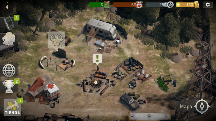 Walking Dead No Man Campamento