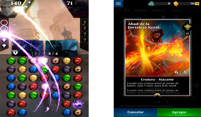 El Jugón De Móvil Magic: Puzzle Quest Partida