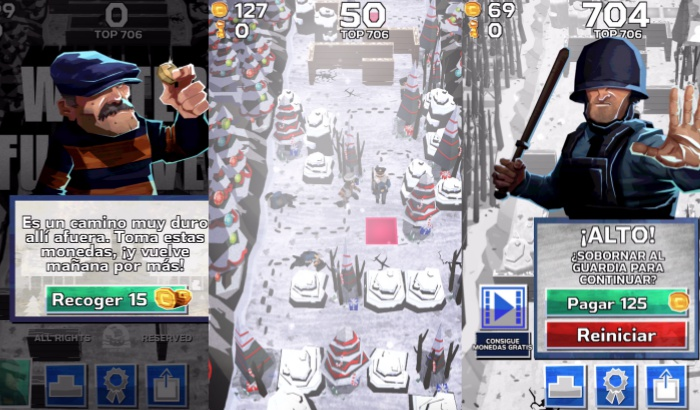 El Jugon De Movil Winter Fugitive primera