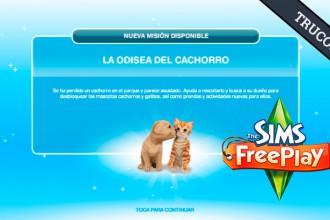 El Jugón de Móvil Guías y Trucos Los Sims Free Play - Misión 24 La odisea del cachorro