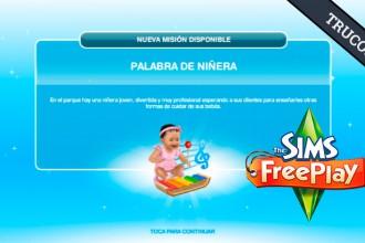 El Jugón de Móvil Guías y Trucos Los Sims Free Play - Misión 26 Palabra de niñera