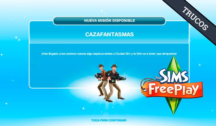El Jugón de Móvil Guías y Trucos Los Sims Free Play - Misión 27 Cazafantasmas