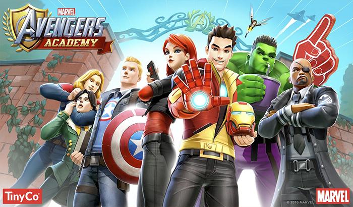 Imagen de portada para el analisis de Marvel avengers academy