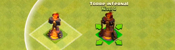 Actualización de Clash of Clans - Nuevo nivel de torre infernal