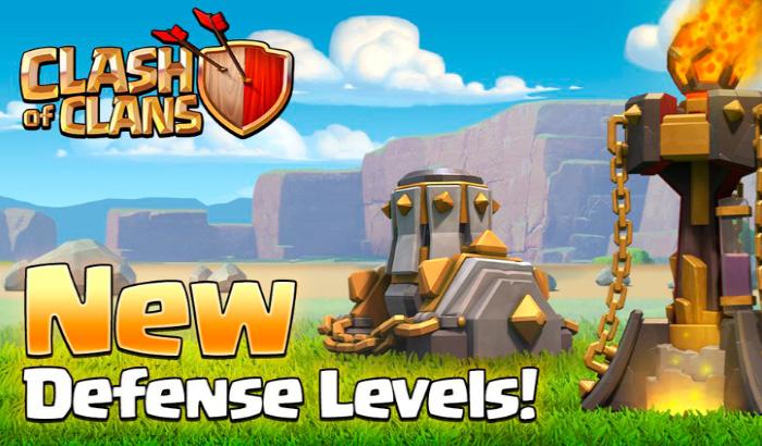Actualización de Clash of Clans - Nuevos niveles de edificios