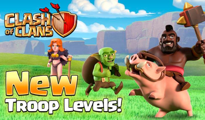 Actualización de Clash of Clans - Nuevos niveles de tropas