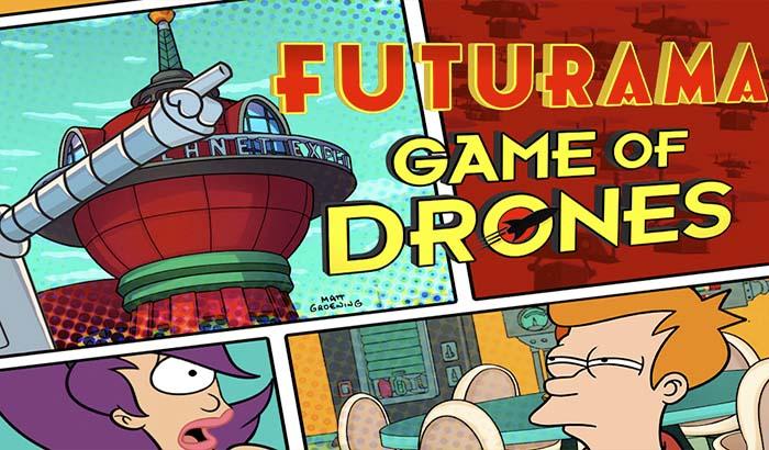 Imagen de portada para analisis de futurama game of drones
