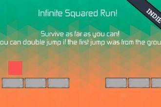 El jugón de móvil probando Infite Squares